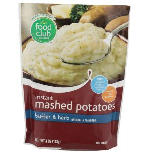 Instant Mashed Potatoes, Butter & Herb