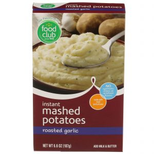 Instant Mashed Potatoes, Roasted Garlic