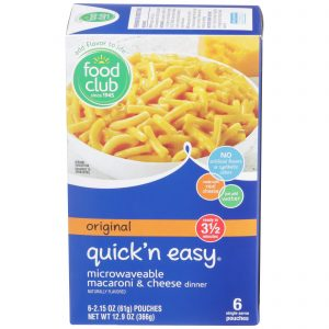 Original Quick'n Easy Microwaveable Macaroni & Cheese Dinner