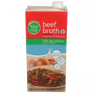 Beef Broth - 50% Less Sodium