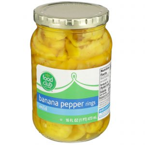 Banana Pepper Rings, Mild