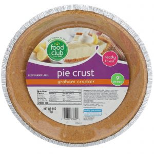 Graham Cracker Pie Crust,  9""