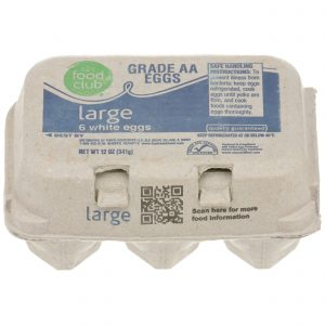 Grade AA Large Eggs, White