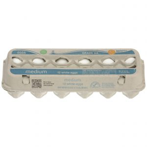 Grade AA Medium Eggs, White