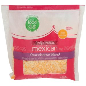 Finely Shredded Mexican Style Four Cheese Blend