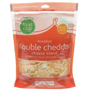 Shredded Double Cheddar Cheese Blend