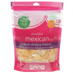 Shredded Mexican Style Four Cheese Blend