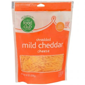 Shredded Mild Cheddar Cheese