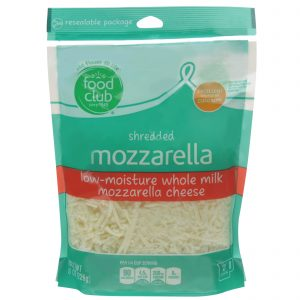 Shredded Mozzarella Low-Moisture Whole Milk Cheese