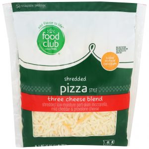 Shredded Pizza Style Three Cheese Blend