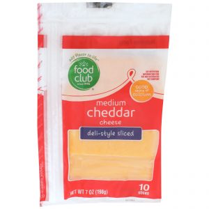 Medium Cheddar Cheese, Deli-Style Sliced