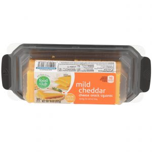Mild Cheddar Cheese Snack Squares