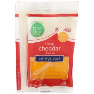 Sharp Cheddar Cheese, Deli-Style Sliced