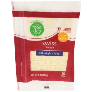 Swiss Cheese, Deli-Style Sliced