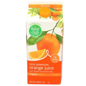 100% Premium Orange Juice, Original, No Pulp