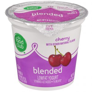 Cherry Lowfat Yogurt, Blended