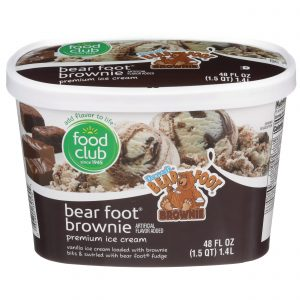 Bear Foot Brownie Premium Ice Cream