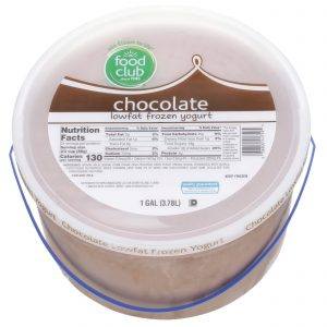 Chocolate Frozen Yogurt, Lowfat