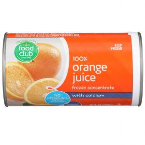 100% Orange Juice, Frozen Concentrate, With Calcium