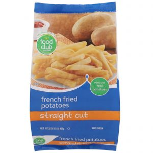French Fried Potatoes, Straight Cut