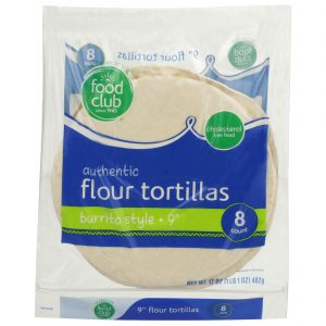 Authentic Flour Tortillas, Burrito Style - 9""