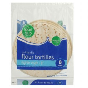 Authentic Flour Tortillas, Fajita Style - 8""