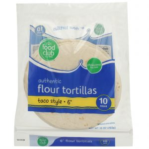 Authentic Flour Tortillas, Taco Style - 6""