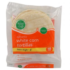 Authentic White Corn Tortillas, Taco Style - 6""