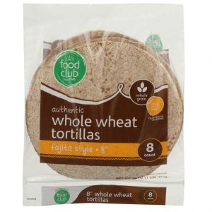 Authentic Whole Wheat Tortillas, Fajita Style - 8""