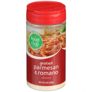 Grated Parmesan & Romano Cheese