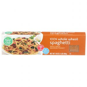 100% Whole Wheat Spaghetti Pasta
