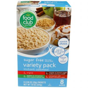 Sugar Free Variety Pack Instant Oatmeal
