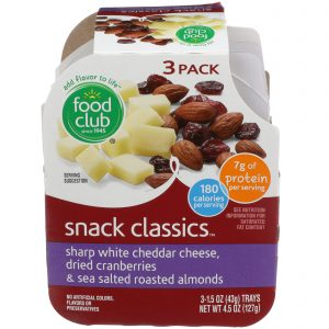 Snack Classics, Sharp White Cheddar Cheese, Dried Cranberries & Sea Salted Roasted Almonds