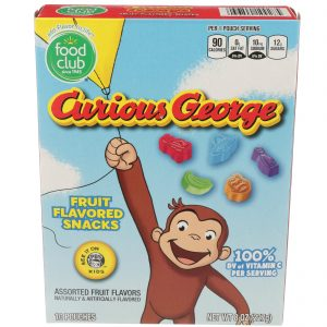 Fruit Snacks, Curious George