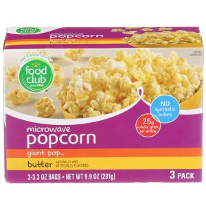 Microwave Popcorn - Giant Pop, Butter