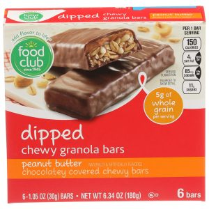 Peanut Butter Dipped Chewy Granola Bars