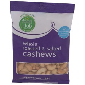 Cashews - Whole Roasted & Salted