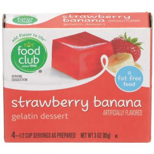 Strawberry Banana Gelatin Dessert