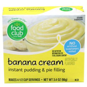Banana Cream Instant Pudding & Pie Filling