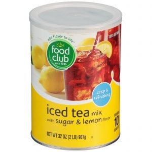 Iced Tea Mix With Sugar & Lemon Flavor