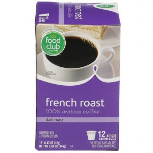Single Cup Coffee - French Roast 100% Arabica Coffee, Dark Roast