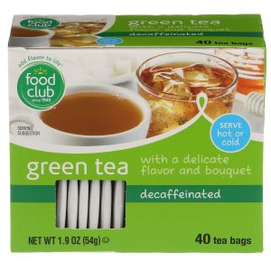 Green Tea, Decaffeinated