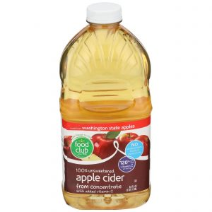 100% Unsweetened Apple Cider