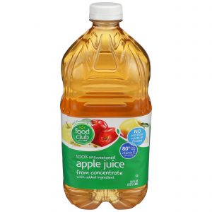 100% Unsweetened Apple Juice