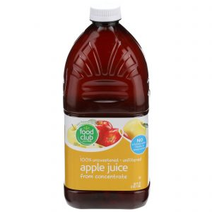 100% Unsweetened, Unfiltered Apple Juice