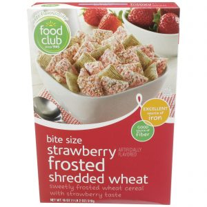 Strawberry Frosted Shredded Wheat Cereal, Bite Size