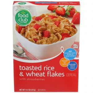 Toasted Rice & Wheat Flakes With Strawberries Cereal
