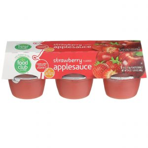 Applesauce, Strawberry Flavored