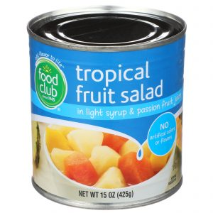 Tropical Fruit Salad In Light Syrup & Passion Fruit Juice