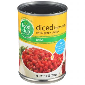 Diced Tomatoes With Green Chilies, Mild